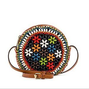 Patricia Nash Scafati Beaded Canteen Crossbody Red